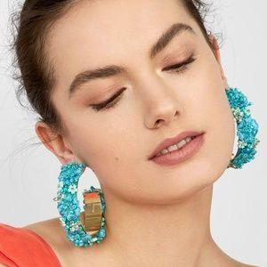 Anthropologie Jewelry - BaubleBar Flower Hoop Statement Earrings
